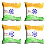 meSleep Multi India Republic Day Cushion Cover (16x16) -EV-10-REP16-CD-024-04