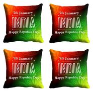 meSleep Happy Republic Day Cushion Cover (16x16) -EV-10-REP16-CD-036-04