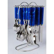 Elegante Viva Dark Blue Cutlery Set- 24 Pcs With Stand  EVDBLUCS024