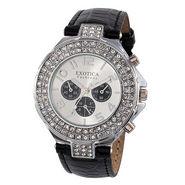 Exotica Fashions Wrist Watch - Black & Silver