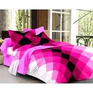 Story @ Home 240 TC 100% Cotton Pink 1 Double Bedsheet With 2 Pillow Cover-FE1106