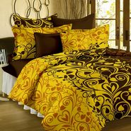 Bedspun 100% Cotton Double Bedsheet With 2 Pillow Cover-FR1405