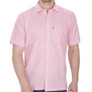 Fizzaro Plain Linen Casual Shirt For Men_Fzls106 - Pink