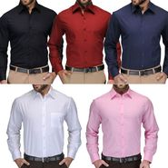 Pack of 5 Full Sleeves Cotton Shirts_Fab0501