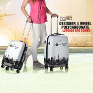 Fidato Designer 4 Wheels Polycarbonate Luggage Bag Combo