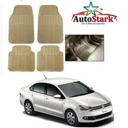 AutoStark - Premium Quality Beige Rubber Car Foot Mat For - Volkswagen Vento
