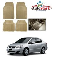 AutoStark - Premium Quality Beige Rubber Car Foot Mat For - Maruti Suzuki SX4