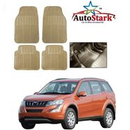 AutoStark - Premium Quality Beige Rubber Car Foot Mat For - Mahindra XUV 500 2015