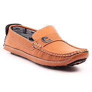 Foot n Style Italian leather Loafers  FS313 - Tan
