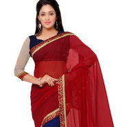 Indian Women Georgette Printed Saree -GA20126
