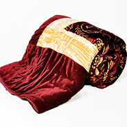 Little India Designer Printed Single Bed Velvet AC Quilt - Maroon