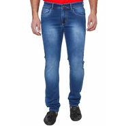 Branded Slim Fit Cotton Jeans For Men_Hb - Blue