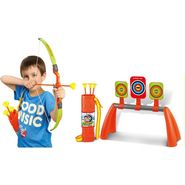 Kids Archery Toy Set of Bow, Suction Arrow, 3 Targets, Shooting Stand & Quiver