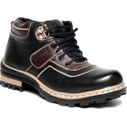 Synthetic Leather Black Boots -bn6