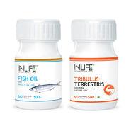 INLIFE Strength & Stamina Combo Pack Of Fish Oil Omega 3 & Tribulus Terrestris