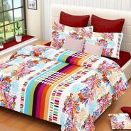 IWS Cotton Printed Double Bedsheet with 2 Pillow Covers-IWS-CB-1255