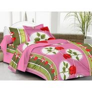 IWS Cotton Printed Double Bedsheet with 2 Pillow Covers-IWS-CB-1259