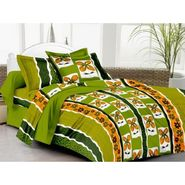 IWS Cotton Printed Double Bedsheet with 2 Pillow Covers-IWS-CB-1263