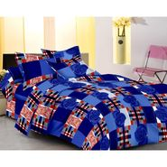 IWS Designer Cotton Printed Double Bedsheet with 2 Pillow cover- IWS-CB-51