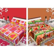 IWS Set of 2 Designer Cotton kids Double Bedsheet with 4 Pillow cover IWS-CCB-41