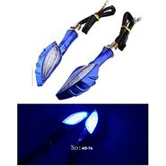 AutoStark Style 12 LEDs Motorcycle Turn Indicators Light (Blue)
