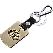 AutoSun Metal Key Chain for Toyota Cars Bike - Key Ring - Keychain Toyota Gold