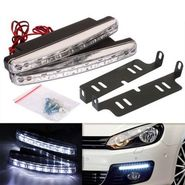 AutoSun White 8 LED Daytime Super Running Lights Pair (2 Strips)