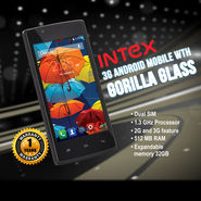 Intex 3G Android Mobile with Gorilla Glass