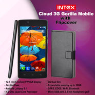 Intex Cloud 3G Gorilla Mobile with Flipcover