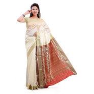 Ishin Poly Silk Saree - Cream-STCS-31