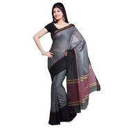 Ishin Cotton Saree - Grey-SNGM-834