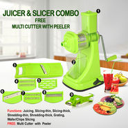 Juicer & Slicer Combo + Free Multi Cutter with Peeler