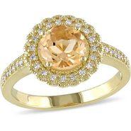 Kiara Swarovski Signity Sterling Silver Chitra Ring_Kir0799 - Golden