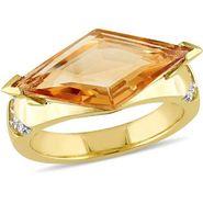Kiara Swarovski Signity Sterling Silver Swapna Ring_Kir0812 - Golden