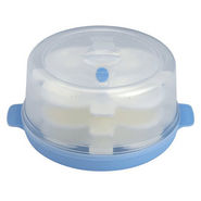 Microwave Idli/Pizza Maker - 12 Idlies - White & Sky Blue