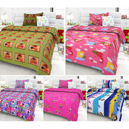 Set Of 5 Kids single Bedsheet With 5 Pillow Cover-KZ_1411_01