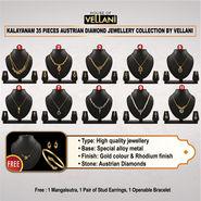 Kalayanam 35 Pieces Austrian Diamond Jewellery Collection by Vellani