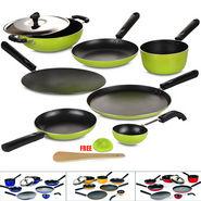 8 Pcs Coloured Non Stick Cookware Set