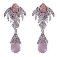 Kriaa Austrian Stone Earrings - Pink _ 1301216