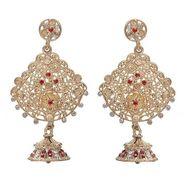 Kriaa Austrian Stone Earrings - Red _ 1301223