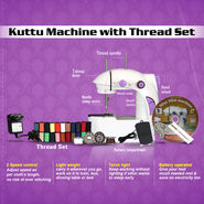 Kuttu Machine with Thread Set