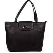 Arisha Leather  Handbags LB131 -Black