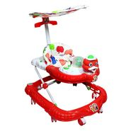 Duck Musical Walker with Tray And Canopy - Red