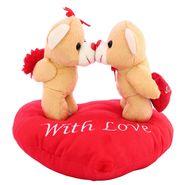 Valentine Stuff KissingCouple OnHeart Teddy Bear - Brown