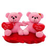 Heart In Hand Couple Valentine Stuff Teddy - Pink