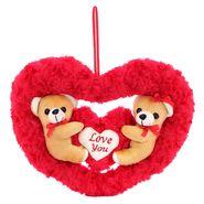 Couple onHeart Valentine Stuff Teddy - Brown