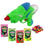 Holi Green Water Pichkari Rocket Squirter With Tota Gulal Balloons M55 - 4TOTA