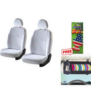 Latest Car Seat Cover for Mahindra Xylo - White
