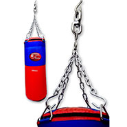 Liana Punching Bag with Chain (Filled) - Red & Blue