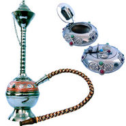 Combo of Little India Colorful Meenakari Hukka + Ash Tray